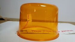 Amber Beacon Dome Vintage Police Or Fire For Large Revolving Light Lens250-33