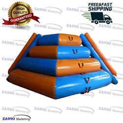 16ft Inflatable Slide And Floating Climbing Rock Mountain Water With Air Pump
