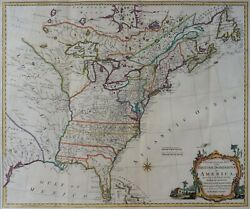 A New And Accurate Map Of The British Dominions In America - Kitchin 1766 - Rare