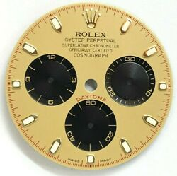 Genuine Rolex Daytona 116528 116523 Champagne Dial With Black Subdials D Serial