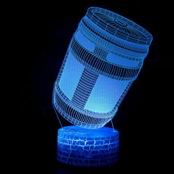 3d Creative Light Fortnite Game Jar Usb Touch 7-color Led Night Light Kid Toy