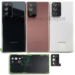 For Samsung Galaxy Note 20 Ultra Replacement Back Glass+camera Lens+ip68 Tape