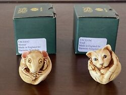 Harmony Kingdom 2 Rp Fred Homer Cat Mouse Signed Rare Color Variance Le Only 175
