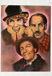 Vintage Rare 1982 Marx Brothers Poster By Sally Evans 24x18