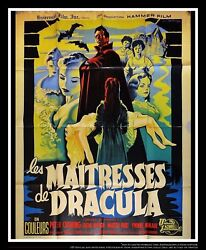 The Brides Of Dracula 4x6 Ft Vintage French Grande Original Movie Poster 1960