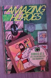 Amazing Heroes 131 1987 1st Appearance Of Venom In Advertisements Rare Book