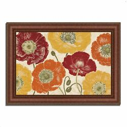 37 X 52 A Poppyand039s Touch I Spice By Daphne Brissonnet Framed Painting Print