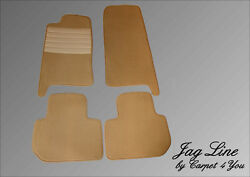 Tan Velours Floor Mats Set For Jaguar Xj And Xjr X300 From 11.1994-10.1997