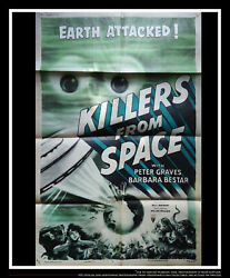 Killers From Space 27x40 Us One Sheet Vintage Movie Poster Original 1954