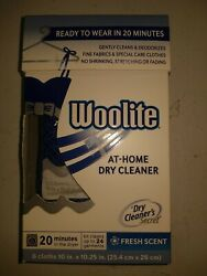 Woolite At Home Dry Cleaner Cleans 24 Garments 6 Cleaning Cloths Deodorizes