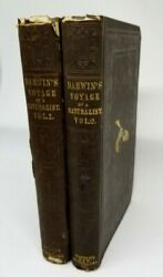 1846 Charles Darwin Journal Of Researches Voyage Of Naturalist 2 Vol 1st Edition