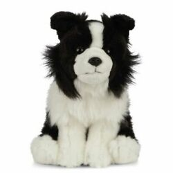 Border Collie Dog Soft Plush Toy 9/23cm Stuffed Animal By Living Nature New