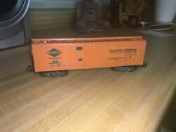 American Flyer 802 S Scale/gauge Illinois Central Ic 802 Orange Reefer Boxcar