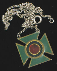 Wwii Era Military Army Sharpshooter Medal Pendant Red Green Enamel Rare