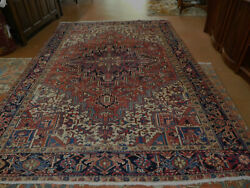 Old Heriz Rug Estate Lovely Carpet 7and0396and039and039 X 11andrsquo Circa 1950s