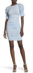 Love...Ady Ruched Jersey Knit Mini Dress Ice Blue Extra Small XS New Nordstrom $19.00