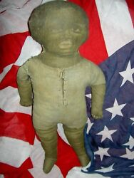 Charming And Rare Antique C1890s Labeled Art Fabric Mills Printed Cloth Doll