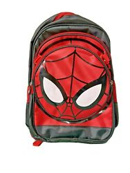 Spiderman Kids Adjustable Backpack With Detachable Lunch Box Red Black