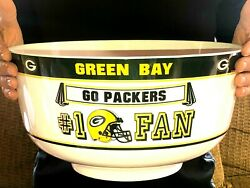 Super Sized Party Food Bowl And Accessory Pack Green Bay Packers