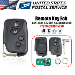 Smart Remote Key Fob For 2010-2015andnbsplexus Rx350 Rx450h Ct200h Hyq14acx Gne 5290
