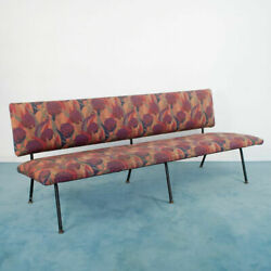 3 Seater Rhyme Sofa Iron Floral Fabric 70and039s Vintage Design