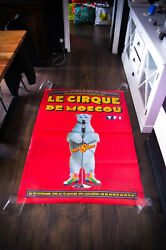 The Moscow Circus 1990 39 X 59 French Original Vintage Poster