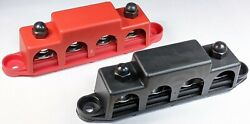 4 Post Busbar Bus Bar Power Distribution 12v 250a 5/16 Red And Black Pair