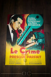 Dial M For Murder 24 X 32 French Moyenne Fold Movie Poster Original 1954