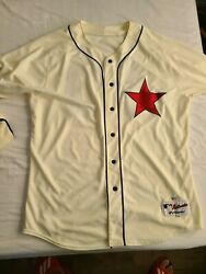 Majestic Detroit Stars Tigers Game Worn Used Jersey Negro League Authentic Rare