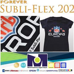Forever Subli-flex 202 Sublimation Paper For Dark Fabrics 50 Sheets 8.5andrdquox11