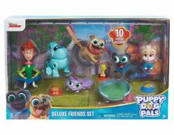 Disney Junior Puppy Dog Pals Deluxe Friends Set Figure 6 Pack With Accessories