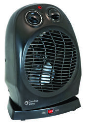 1500w Compact Electric Oscillating Fan Home Office Tabletop Ceramic Space Heater