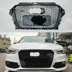 Front Bumper Grille For Audi A3 S3 8v 2013-2016 Rs3 Style Mesh Black Honeycomb