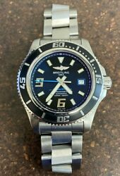 Breitling A17391a8-ba79-163a Superocean 44mm Menand039s Stainless Steel Watch