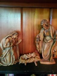 Joseph Mary And Baby Jesus Carved Wooden