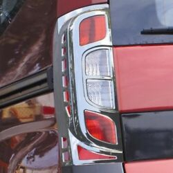 Chrome Rear Tail Light Surrounds Trim Covers Set To Fit Peugeot Bipper 2008