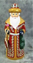 Vintage 1999 G.debrekht Russia Santa Limited Edition W/coa Hand Carved/painted