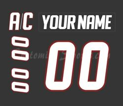 Lake Erie Monsters Customized Number Kit For 2011-2013 3rd Jersey