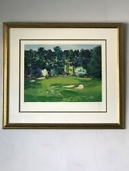 Mark King Modern Golf Course Lithograph -pencil Signed- Limited Edition Coa