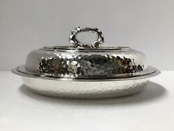 And Co. Sterling Silver Entree Dish. Marteled. 50 Troy Oz. 1881. Antique