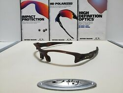 Oakley Flak Jacket 1.0 Polished Rootbeer Frame Satin Gold Icons Brand New 26 231 $94.99