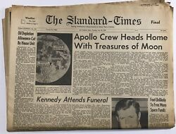 1969 Apollo Crew Heads Home From Moon Standard-times Newspaper July 22 Complete
