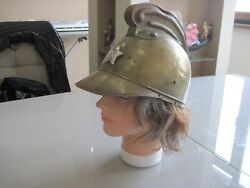 Rare Old Royal,bulgarian Fire Forces Firefighter Helmet