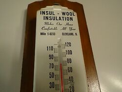 Vintage Insul- Wool Insulation Thermometer Cleveland Ohio Main 1-6233 Usa
