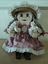 Vintage Handcrafted Homemade Wooden Victorian Country Doll Shelf Sitter Decor