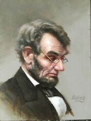 Lincoln Portrait Classic, Fine Art Paintings, Bill Ewing, Oil, Old Masters