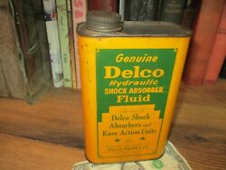 Holy Grail Oil Can 1939 Vintage Genuine Delco Shock Absorber Fluid Can Quart