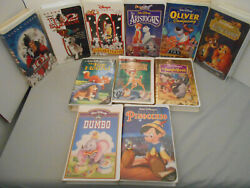 Disney Movie Lot Of 11 Vhs Tapesfox And Hound Dumbo, Bambi, Jungle Book, + More