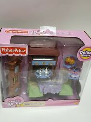 Fisher Price Loving Family 2005 Dining Room Deluxe Decor. New In Unopened Box.