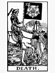 Tarot Card Fabric Wall Tapestry Death Wiccan Home Decor 27.5quot; x 39quot;